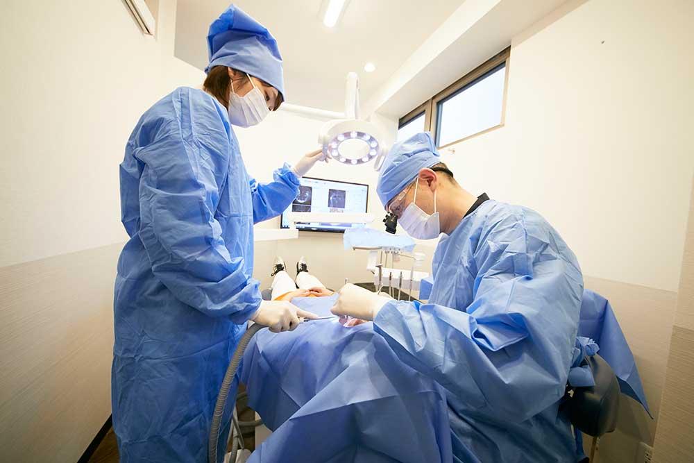 麻酔針の指し方